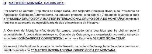 I subida Grupo Sofía
