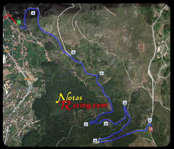 Mapa tramos subida a Santa María de Oia 2012