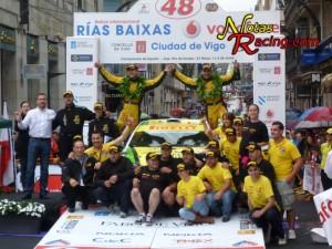 Alberto meira y Álbaro Bañobre campeones del 48º Rallye Rías Baixas 2012