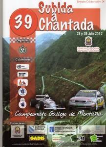 Cartel 39 Subida a Chantada 2012