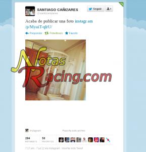 Descuido en Twitter Santiago Cañizares