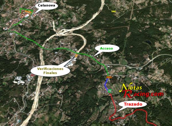 Acceso desde Celanova a la VIII Subida a Furriolo 2013