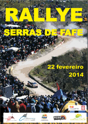 Rallye Serras de Fafe 2014 Cartel