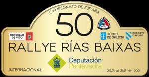 Placa 50 Rallye Rías Baixas 2014