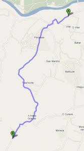 Mapa tramo Subida a Estrada
